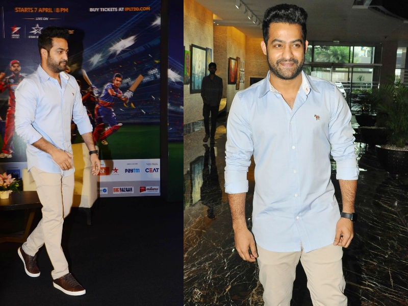 Young tiger Jr NTR,young tiger,Jr NTR,Brand ambassador Jr NTR,Jr NTR IPL ad,Jr NTR IPL 2018,Jr NTR at IPL 2018 press meet,Jr NTR at IPL 2018 press meet pics,Sunrisers Hyderabad,Sunrisers Hyderabad promotion