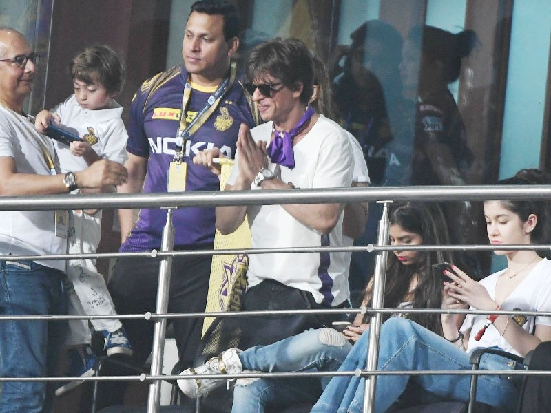 Shah Rukh Khan,Shah Rukh Khan at IPL,Shah Rukh Khan at IPL 2018,SRK,Kolkata Knight Riders,KKR,IPL 2018,IPL 2018 pics,IPL 2018 images