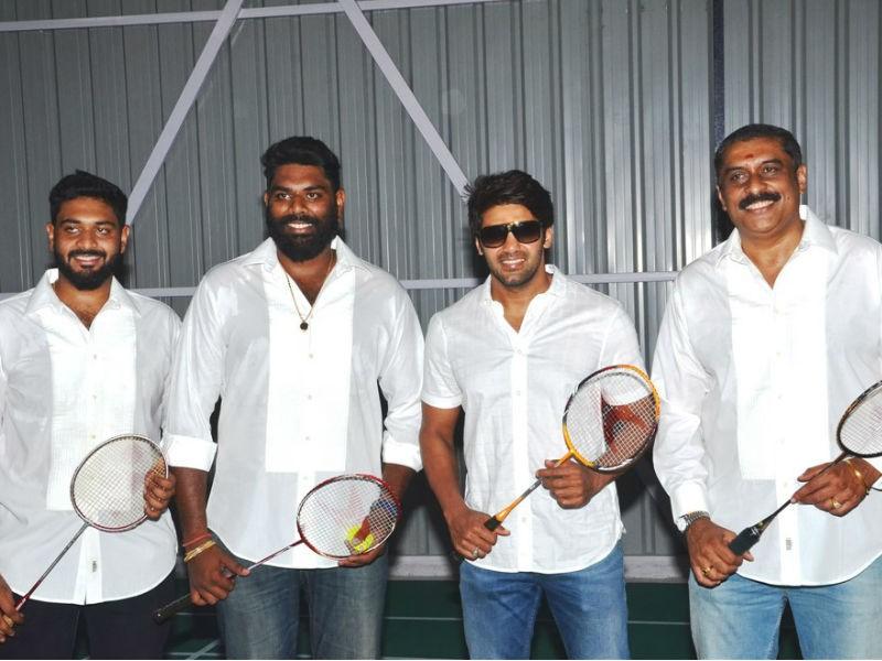 Arya,actor Arya,Ajay Rathnam,Ajay Rathnam badminton academy,Ajay Rathnam badminton academy launch,Ajay Rathnam badminton academy pics,Ajay Rathnam badminton academy images