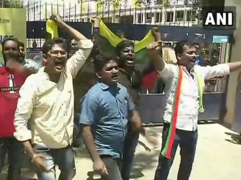 IPL 2018,Tamizhaga Vazhvurimai Katchi,Tamizhaga Vazhvurimai Katchi protest,TVK,MA Chidambaram Stadium,Cauvery Management Board,IPL protest,protests against IPL,protests against IPL in Chennai,Chennai Super Kings