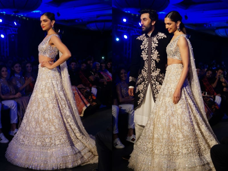 Deepika Padukone,Ranbir Kapoor,Deepika Padukone and Ranbir Kapoor,The Walk of Mijwan,designer Manish Malhotra,Manish Malhotra,Deepika Padukone walks ramp