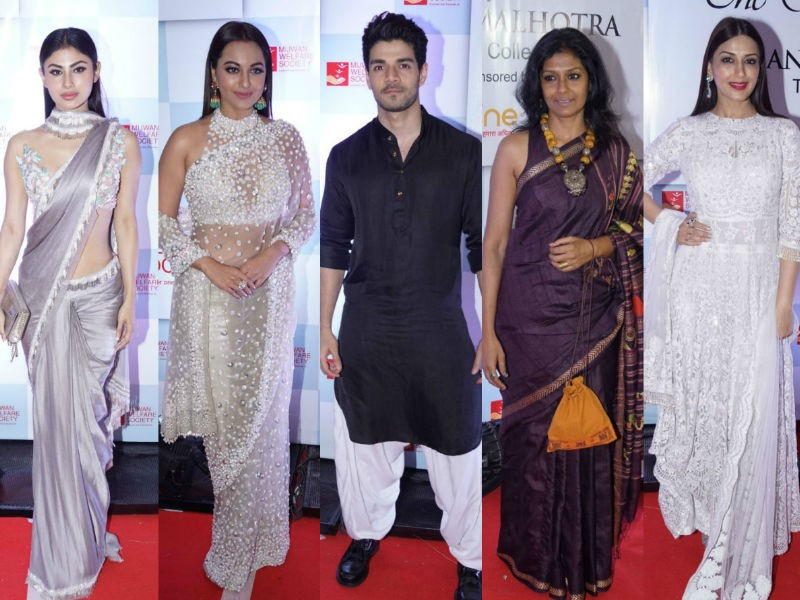 Mouni Roy,Sonakshi Sinha,Sooraj Pancholi,Nandita Das,Sonali Bendre,Manish Malhotra,Manish Malhotra show,celebs at Manish Malhotra show,Manish Malhotra show pics,Manish Malhotra show images