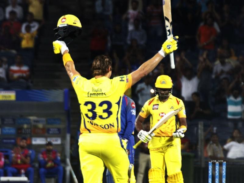 Shane Watson,Shane Watson 100,Chennai Super Kings,Rajasthan Royals,CSK beats RR,CSK trash RR,Indian Premier League,Indian Premier League 2018,IPL 2018,IPL 2018 pics,IPL 2018 images