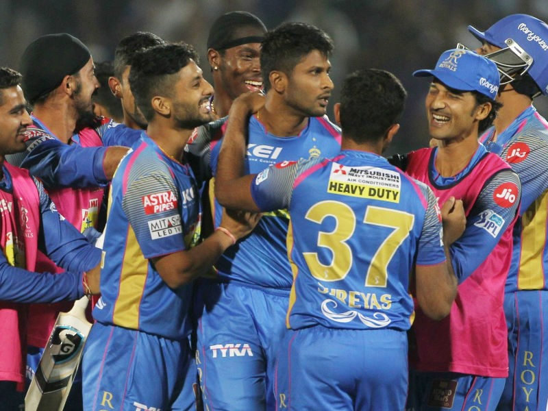 K. Gowthams,Rajasthan Royals,Mumbai Indians,Rajasthan Royals beats Mumbai Indians,RR beats MI,Indian Premier League,Indian Premier League 2018,IPL 2018,IPL 2018 pics,IPL 2018 images