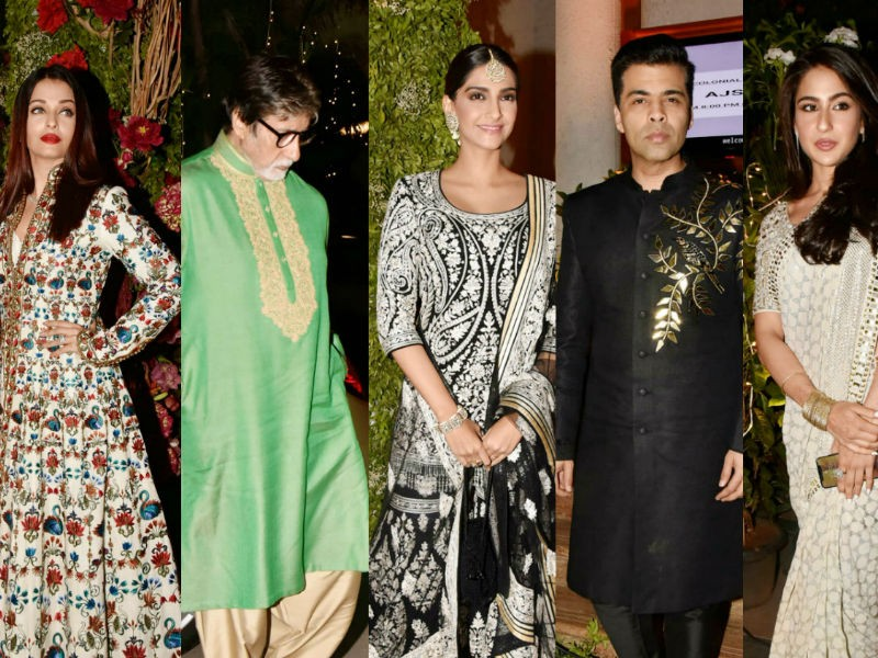 Aishwarya Rai,Amitabh Bachchan,Sonam Kapoor,Sara Ali Khan,Karan Johar,Saudamini Mattu,Siddharth Bhandari wedding reception,Saudamini Mattu wedding reception,Saudamini Mattu wedding reception pics,Saudamini Mattu wedding reception images,Siddharth Bhandari