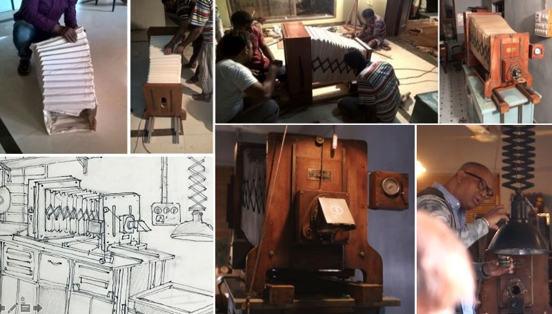 Naseeruddin Shah,Hope aur Hum,Iconic 100 year old machine,traditional copying machine,Hope aur Hum pics,Hope aur Hum images