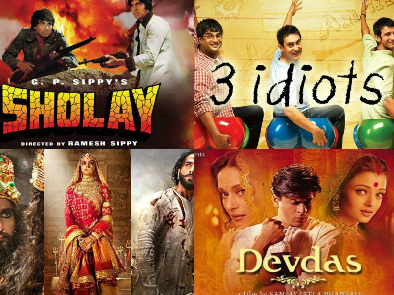 Top 20 iconic Bollywood films,Top 20 movies,Top 20 Bollywood movies,Sholay,Dilwale Dulhania Le Jayenge,3 Idiots,Dangal,Taare Zameen Par,Lagaan,Chak de! India,Kuch Kuch Hota Hai