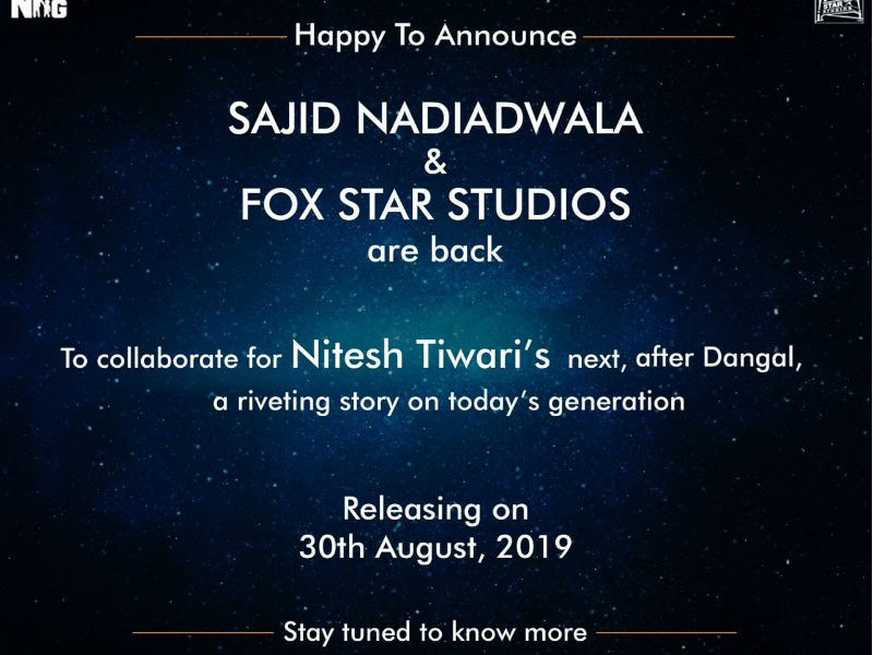 Dangal,Dangal director,Sajid Nadiadwala,Fox Star Studio,Nitesh Tiwari