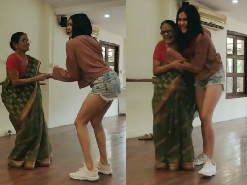 Adah Sharma,Adah Sharma with her grandmother,Adah Sharma dancing with her grandmother,Adah Sharma dancing with grandmother,Adah Sharma dance