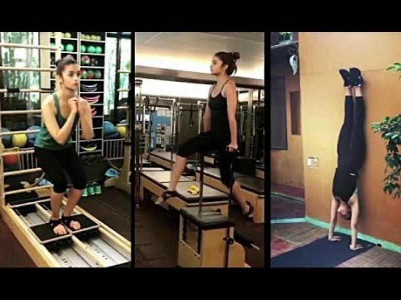 Jacqueline Fernandez,Ranbir Kapoor,Alia Bhatt,Amyra Dastur,Tiger Shroff,gymnastics,Celebs gymnastics,Celebs gymnastics pics,Celebs gymnastics images,Celebs gymnastics stills,Celebs gymnastics pictures