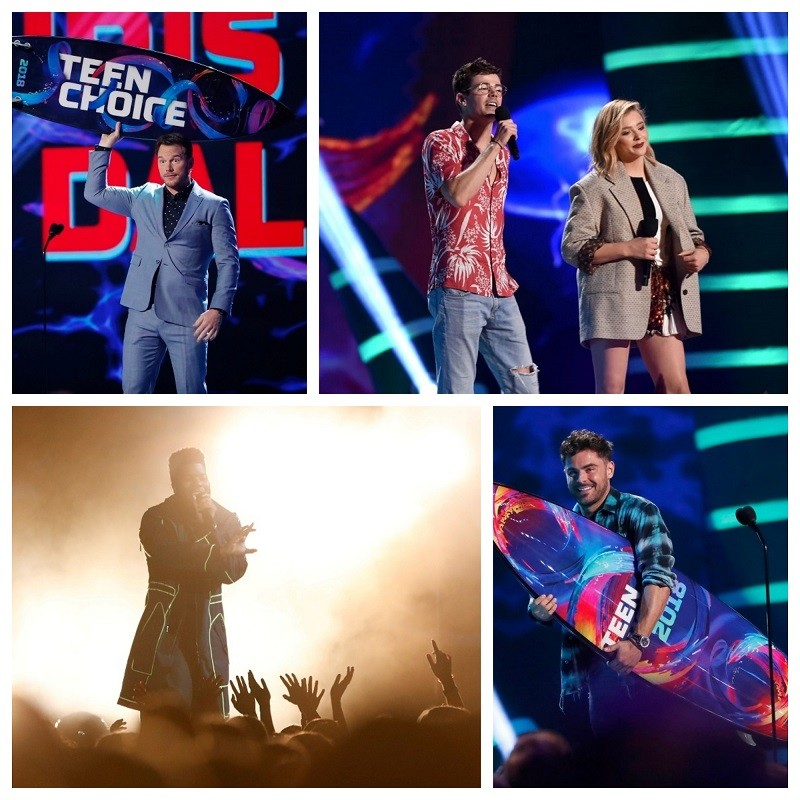2018 Teen Choice Awards,Teen choice awards,Teen choice awards winners,Chris Pratt,Zac Efron,Bebe Rexha,nick cannon,Jurassic World Fallen Kingdom