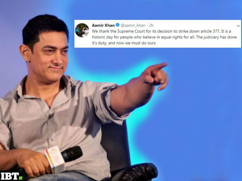 Aamir Khan,Abhishek Bachchan,John Abraham,Karan Johar,Hansal Mehta,Love is Love,Section 377,Section 377 verdict reaction,Celebs reaction on Section 377,section 377 homosexuality law,Homosexuality,LGBTQ