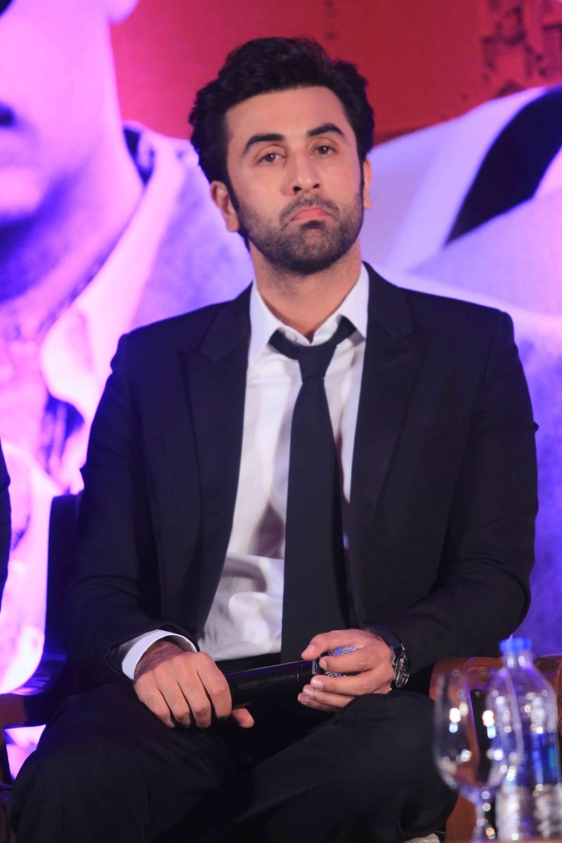 Ranbir Kapoor,actor Ranbir Kapoor,Ranbir Kapoor pics,Ranbir Kapoor images,Ranbir Kapoor latest pics,Ranbir Kapoor at Bombay Velvet Second Trailer Launch,Bombay Velvet Second Trailer Launch,Bombay Velvet