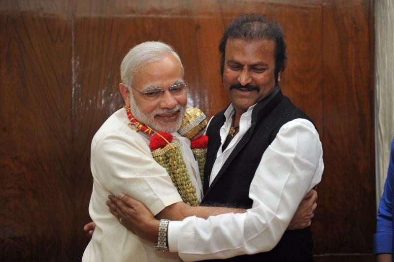 Mohan Babu with Prime Minister Narendra Modi