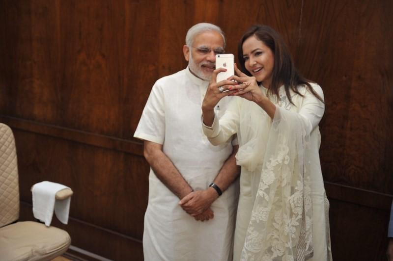 Lakshmi Manchu with Narendra Modi