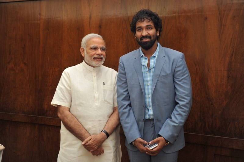 Vishnu Manchu with Prime Minister Narendra Modi