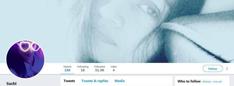 The Twitter Handle of Fake Suchitra Karthik's Account