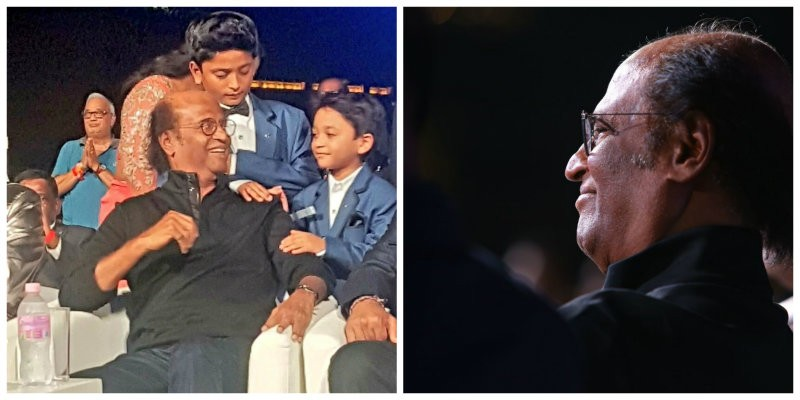 Rajinikanth with his grandchildren - Linga and Yathra