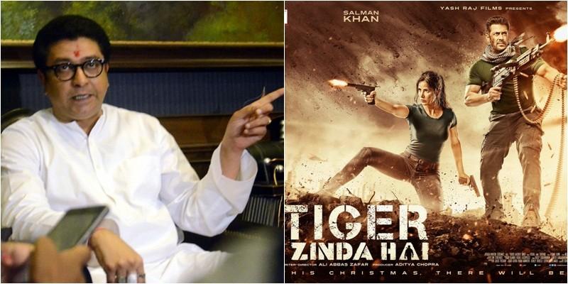 Raj Thackeray and Tiger Zinda Hai poster