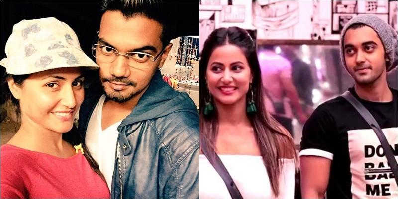 Hina Khan and Rocky Jaisal (left) Hina Khan and Luv Tyagi (right)