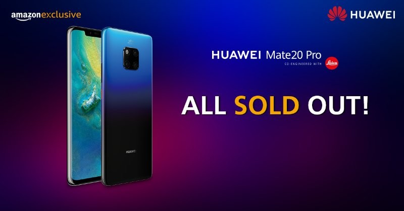 Huawei Mate 20 Pro sale in India