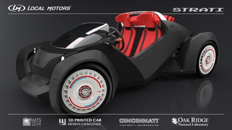 Strati, a 3D Printed Car