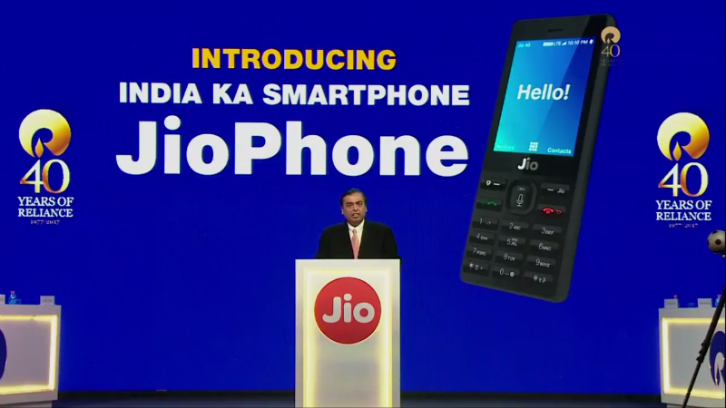 JioPhone launch at RIL AGM