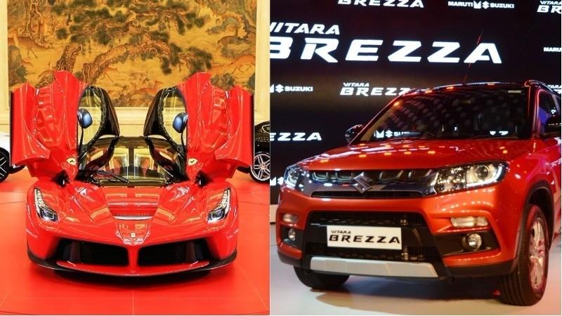 Ferrari and Maruti Suzuki