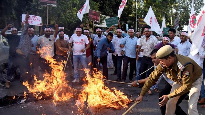 Assam protests against Citizenship amendment bill
