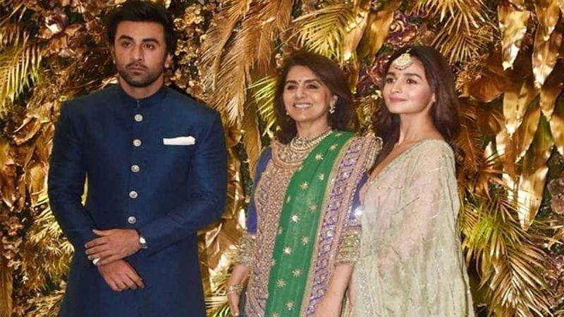Ranbir Kapoor with Neetu Kapoor and Alia Bhatt