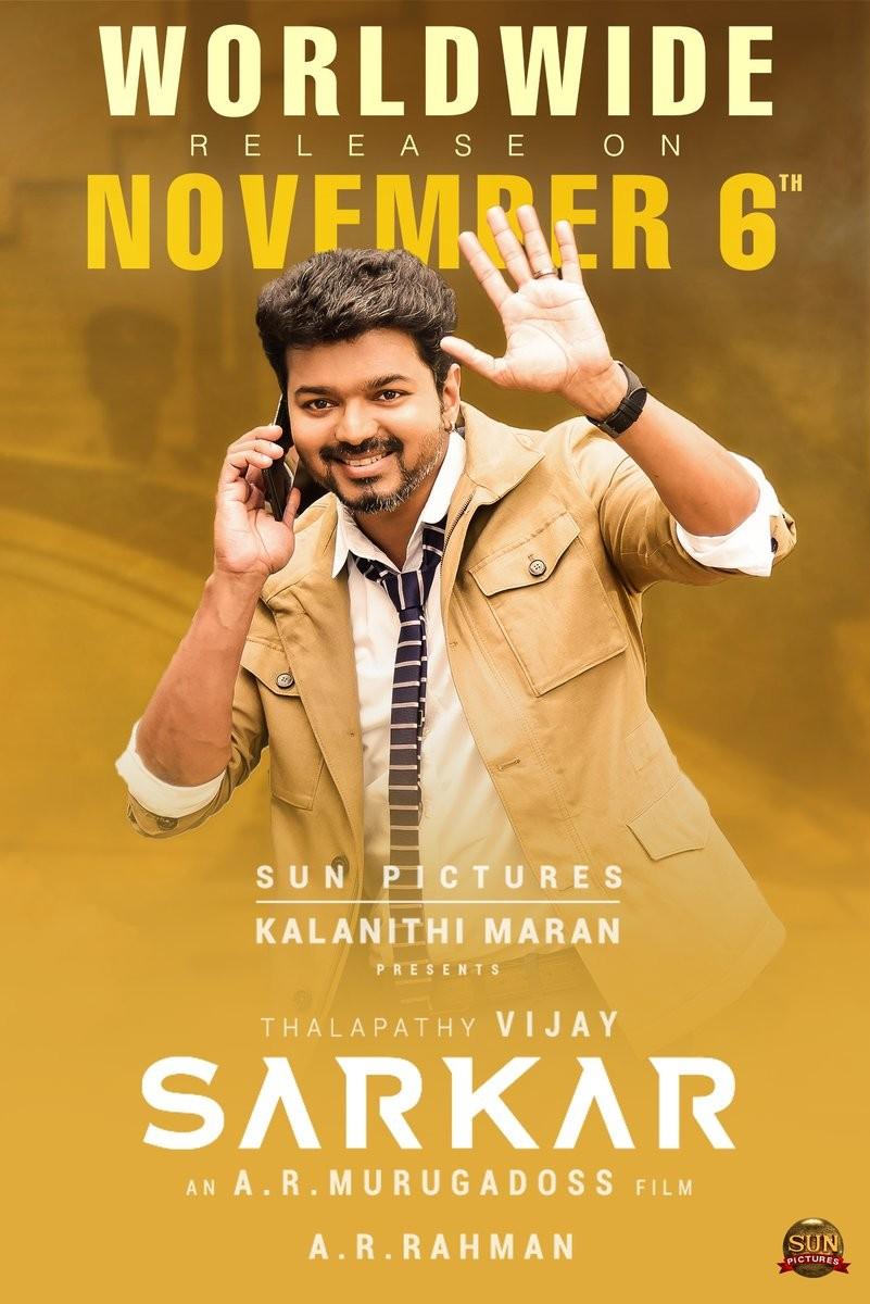 Sarkar countdown,Sarkar,Sarkar release,Sarkar movie release,Vijay,Vijay sarkar,Sarkar Vijay,Thalapathy,Thalapathy fans,Thalapathy vijay
