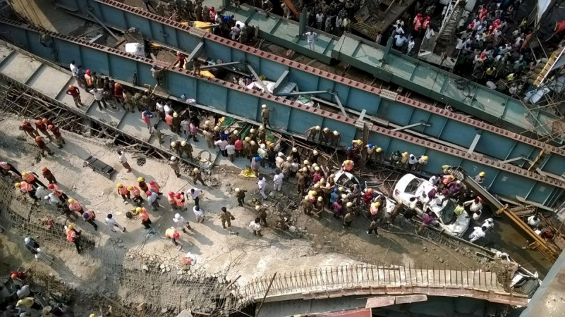 The bridge collapse in Kolkata last year.