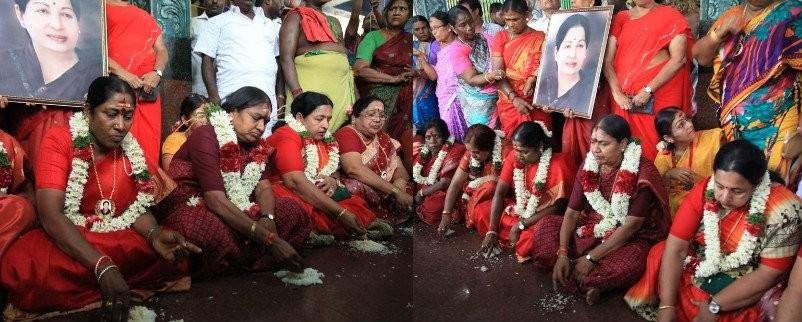 Jayalalithaa,Jayalalithaa health,Special Pooja for Jayalalithaa,Special Pooja for Jayalalithaa recovery,Special Pooja at Apollo Hospital,Apollo Hospital,Tamil Nadu CM Jayalalithaa,CM Jayalalithaa,special puja at Apollo Hospitals today
