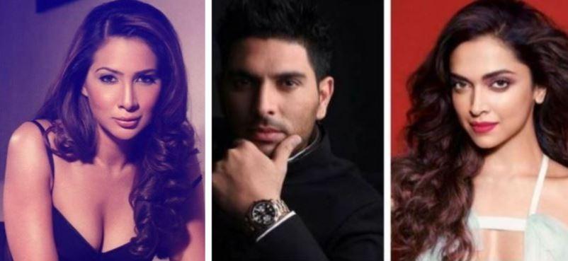Kim Sharma, Yuvraj Singh, Deepika Padukone