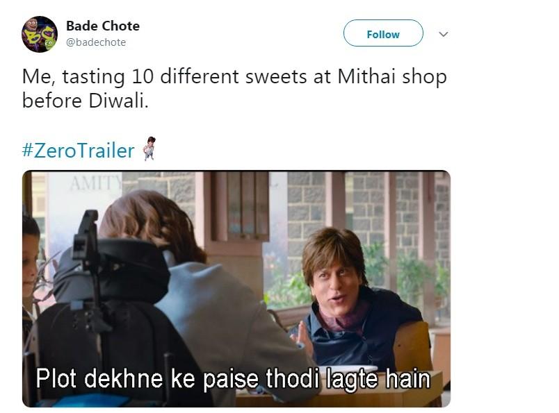 Zero funny memes,Zero memes,Shah Rukh Khan,Shah Rukh Khan memes,Anushka Sharma,Anushka Sharma memes,Katrina Kaif memes,Anushka Sharma funny memes,Zero trailer,zero trailer memes