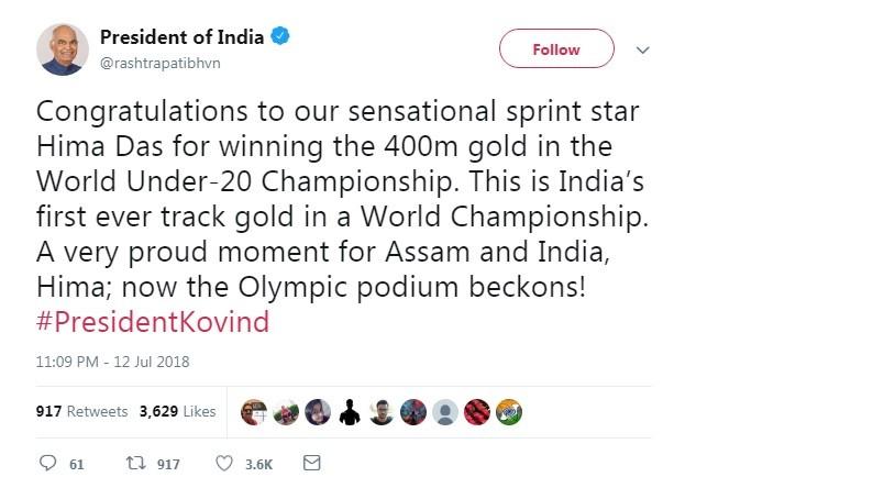 Akshay Kumar,Amitabh Bachchan,Sachin Tendulkar,Virender Sehwag,Rahul Gandhi,Narendra Modi,Hima Das,Hima Das gold,HIma Das gold medal 400m video highlights