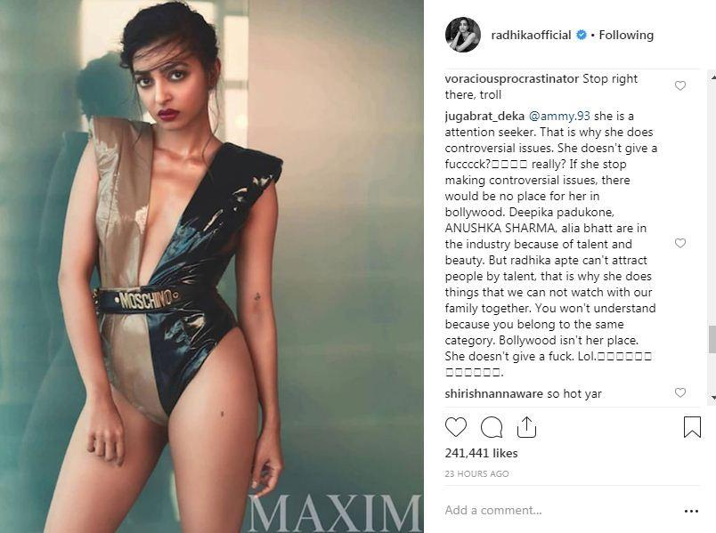 Radhika Apte in Bikini