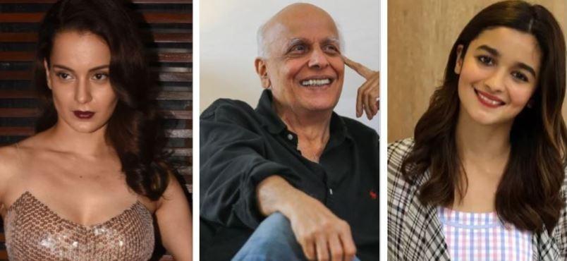 Kangana Ranaut, Mahesh Bhatt, Alia Bhatt