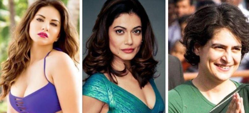 Sunny Leone, Payal Rohatgi, Priyanka Gandhi