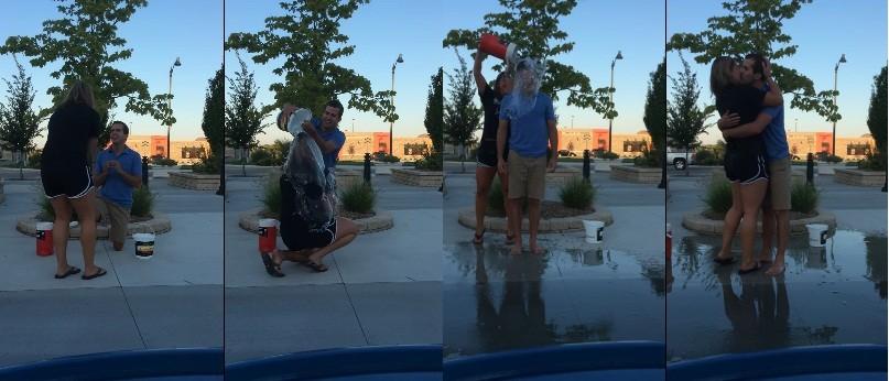 Ice Bucket Challenge Wedding Proposal