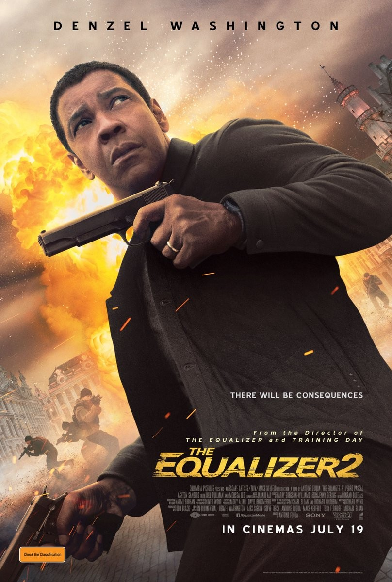 The Equalizer 2,The Equalizer 2 poster,The Equalizer 2 movie poster,Denzel Washington,Antoine Fuqua