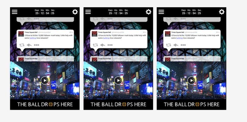 New Year Eve 2015 Ball Drop Google App
