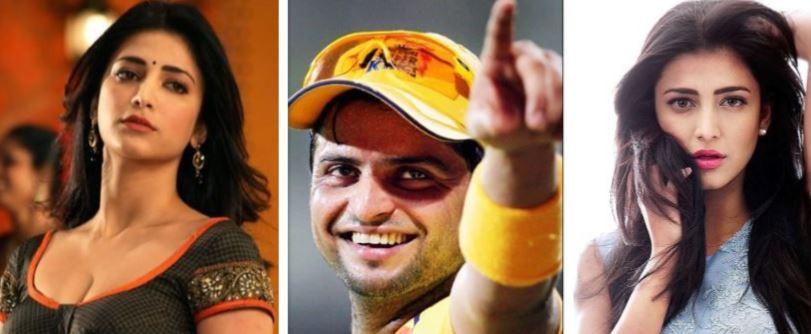 Shruti Haasan and Suresh Raina