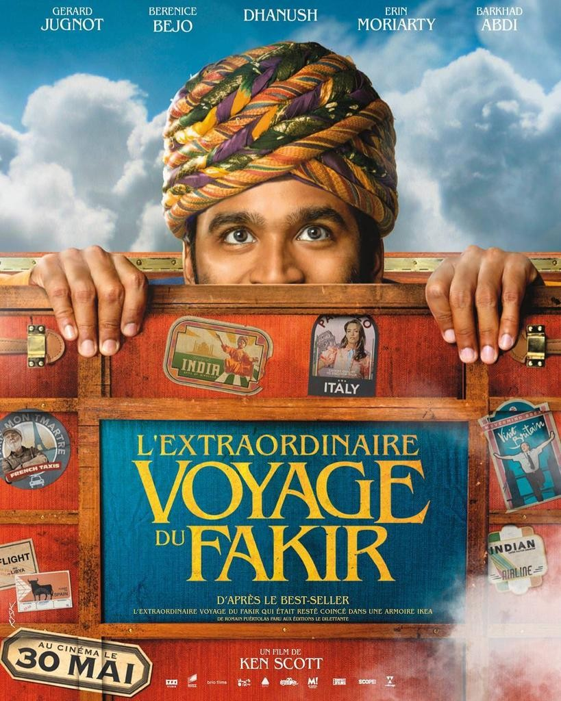 Dhanush,dhanush first look,the extraordinary journey of the fakir,The Extraordinary Journey of the Fakir first look,tamil first look,Bérénice Bejo,ken scott