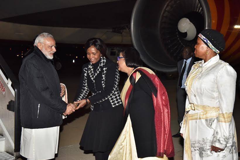 Narendra Modi,Prime Minister Narendra Modi,Narendra Modi in South Africa,Modi in South Africa,Mozambique,Modi's African tour,Modi on African tour,African tour,PM Narendra Modi