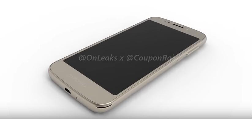 Motorola Moto E5 as in 3D renders video
