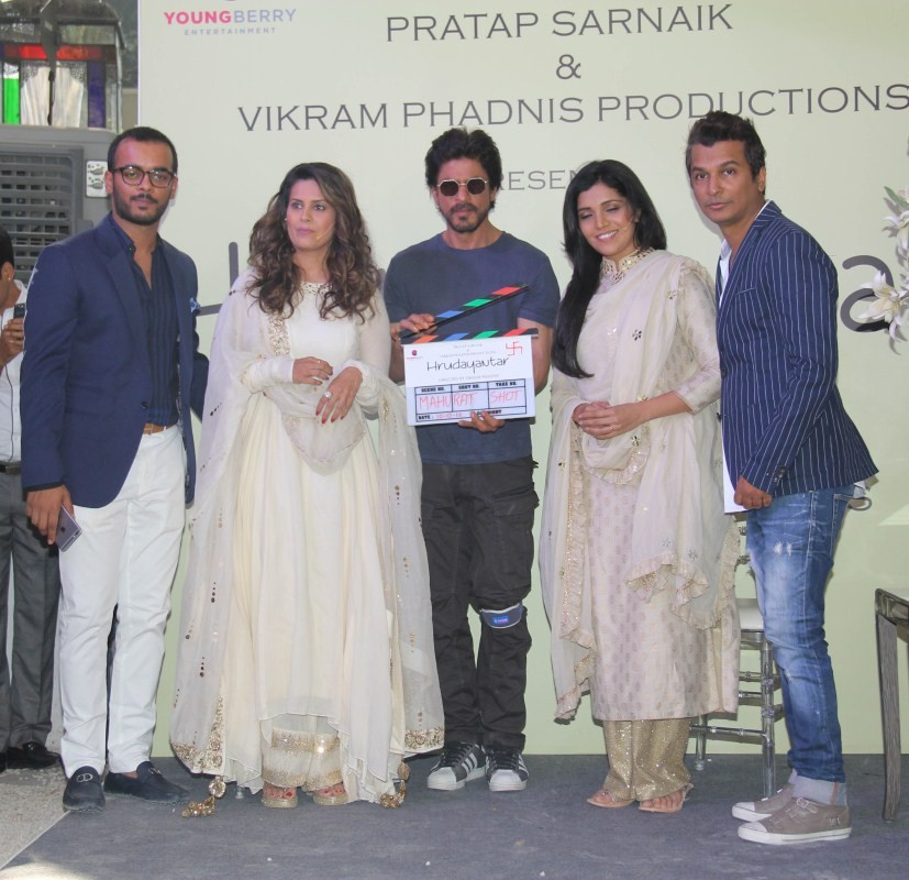 Shahrukh Khan,SRK,Marathi movie Hrudayantar Mahurat,Hrudayantar Mahurat,Marathi movie Hrudayantar launch,Marathi movie Hrudayantar launch pics,Marathi movie Hrudayantar launch images,Marathi movie Hrudayantar launch photos,Marathi movie Hrudayantar launch