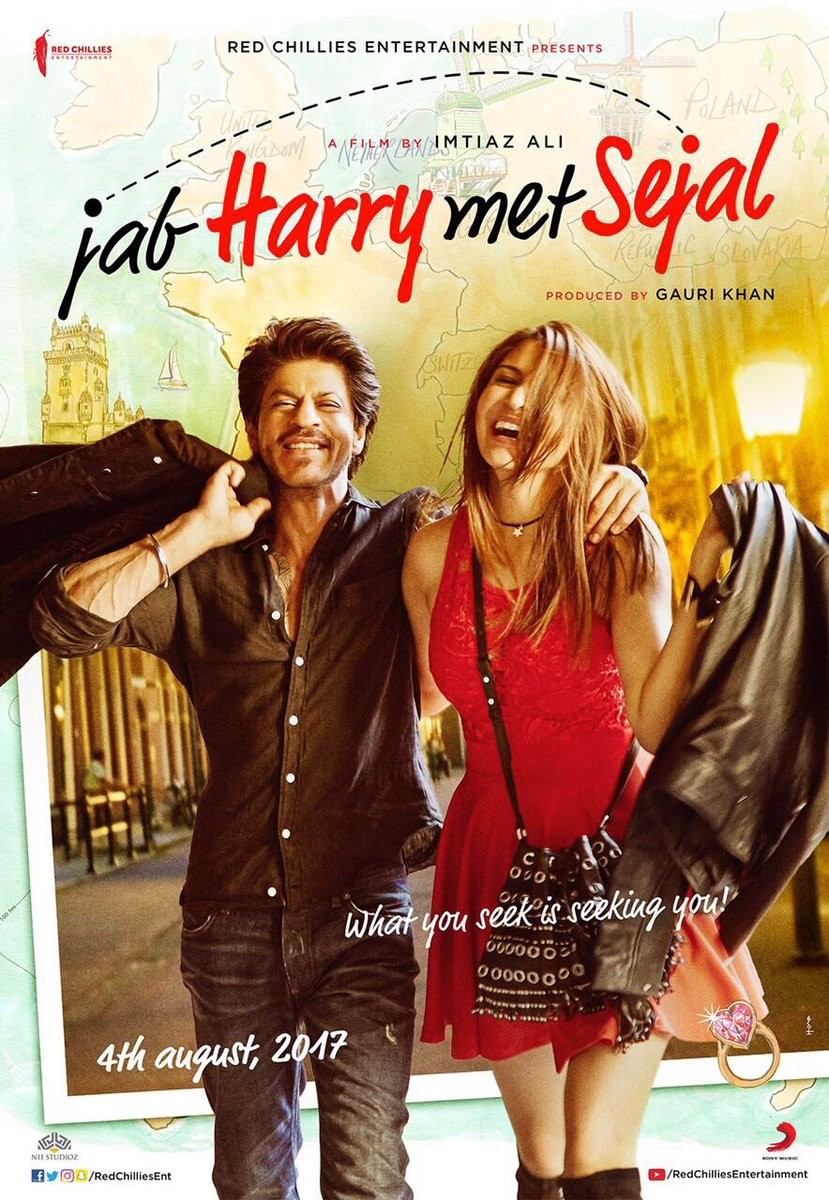 Shah Rukh Khan,Anushka Sharma,Jab Harry Met Sejal first look poster,Jab Harry Met Sejal first look,Jab Harry Met Sejal,Jab Harry Met Sejal movie poster,SRK,Imtiaz Ali
