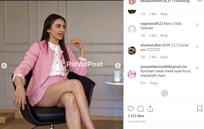 Rakul Preet Singh Almost Suffers Wardrobe Malfunction