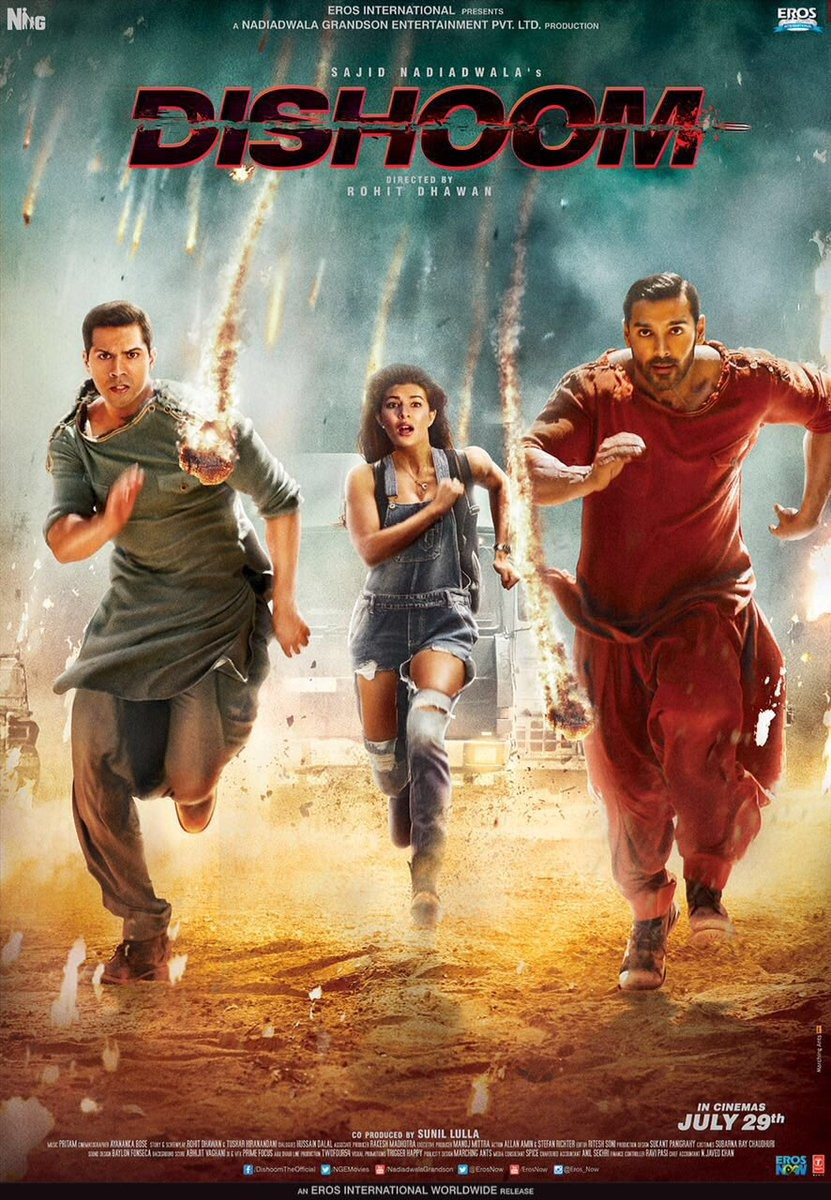 Dishoom,Dishoom first look,Dishoom first look poster,Varun Dhawan,John Abraham,Dishoom poster